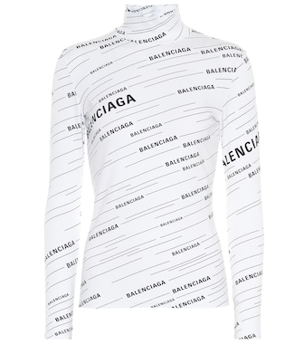 Balenciaga - Logo turtleneck sweater - mytheresa.com
