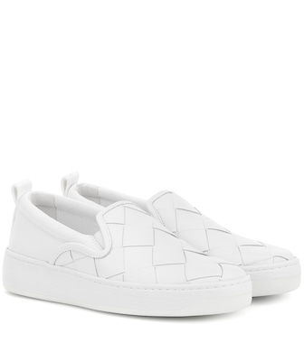 Bottega Veneta - Dodger leather slip-on sneakers - mytheresa.com