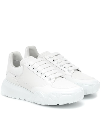 Alexander McQueen - Court leather sneakers - mytheresa.com