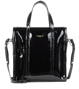 Balenciaga - Bazar S patent leather shopper - mytheresa.com