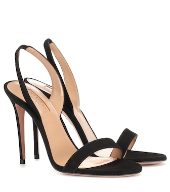 Aquazzura - So Nude 105 suede sandals - mytheresa.com