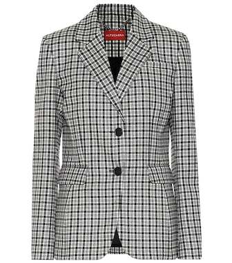 Altuzarra - Fenice checked stretch-wool blazer - mytheresa.com