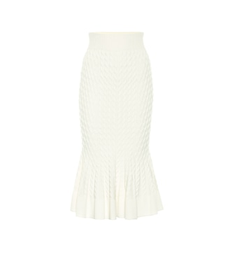 Alexander McQueen - Wool-blend pencil skirt - mytheresa.com