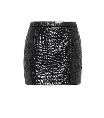 Saint Laurent - Croc-effect miniskirt - mytheresa.com