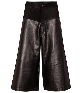 J Brand - Evie leather culottes - mytheresa.com
