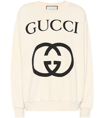 Gucci - Printed cotton sweater - mytheresa.com
