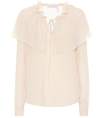 See By Chloé - Ruffled georgette blouse - mytheresa.com