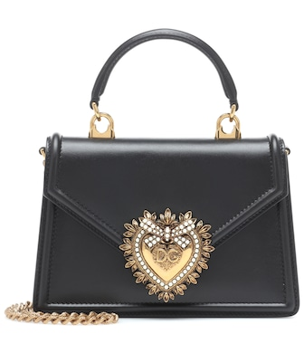 Dolce & Gabbana - Devotion Small leather shoulder bag - mytheresa.com