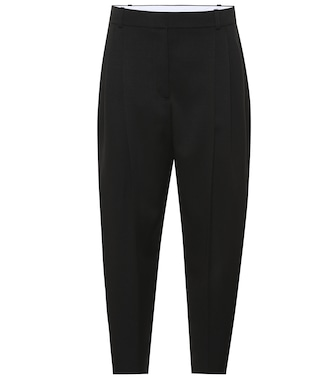 Stella McCartney - High-rise tapered wool pants - mytheresa.com