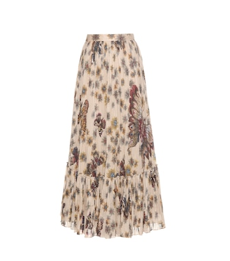 Valentino - Printed pleated cotton maxi skirt - mytheresa.com