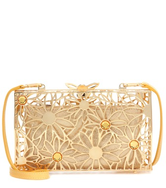 Charlotte Olympia - Pandora In Bloom metal clutch - mytheresa.com