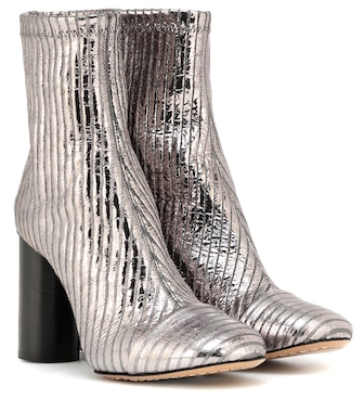 Isabel Marant - Rillyan metallic leather ankle boots - mytheresa.com