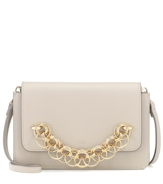 Chloé - Drew Bijou leather clutch - mytheresa.com