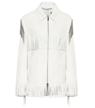Stella McCartney - Fringed faux-leather jacket - mytheresa.com