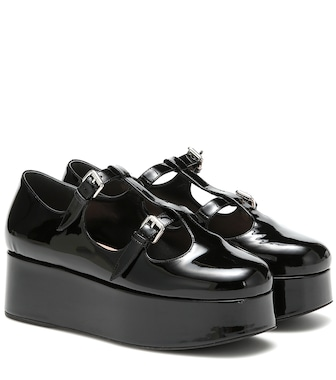 Miu Miu - Patent-leather platforms - mytheresa.com