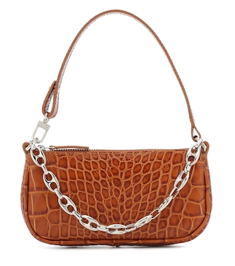 By Far - Rachel croc-effect shoulder bag - mytheresa.com