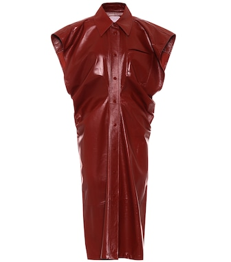 Bottega Veneta - Leather midi dress - mytheresa.com