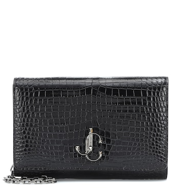 Jimmy Choo - Varenne croc-effect leather clutch - mytheresa.com