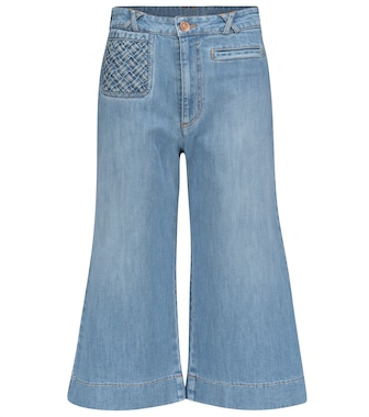 See By Chloé - High-rise flared cropped jeans - mytheresa.com
