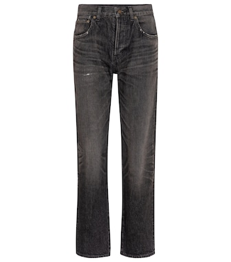 Saint Laurent - High-Rise Straight Jeans - mytheresa.com