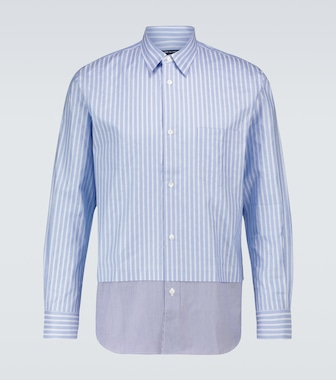 COMME DES GARÇONS HOMME - Long-sleeved striped cotton shirt - mytheresa.com
