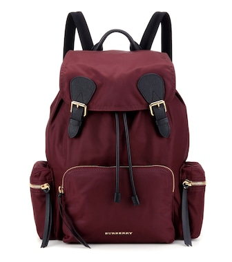 Burberry - The Large leather-trimmed backpack - mytheresa.com