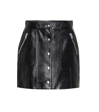 Coach - Leather miniskirt - mytheresa.com