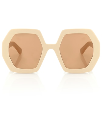 Gucci - Hexagonal sunglasses - mytheresa.com