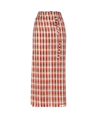 Miu Miu - Plaid cotton wrap skirt - mytheresa.com