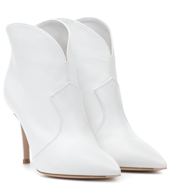 Gianvito Rossi - Mable 85 leather ankle boots - mytheresa.com