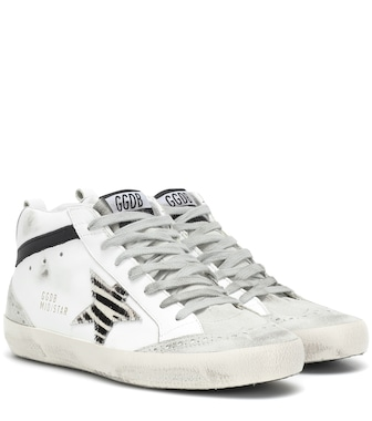 Golden Goose Deluxe Brand - Mid Star leather sneakers - mytheresa.com