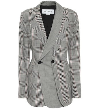 Monse - Checked wool and cotton blazer - mytheresa.com