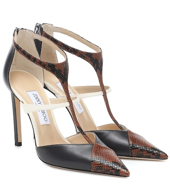 Jimmy Choo - Saoni 100 snake-print leather pumps - mytheresa.com