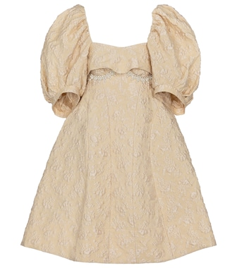 Simone Rocha - Exclusive to Mytheresa – Embellished cloqué minidress - mytheresa.com