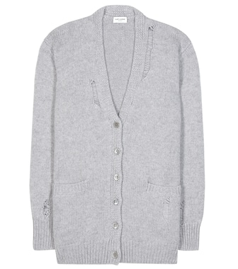 Saint Laurent - Cashmere knitted cardigan - mytheresa.com