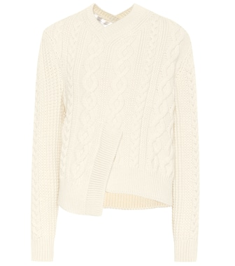 Victoria Beckham - Cable-knit wool sweater - mytheresa.com