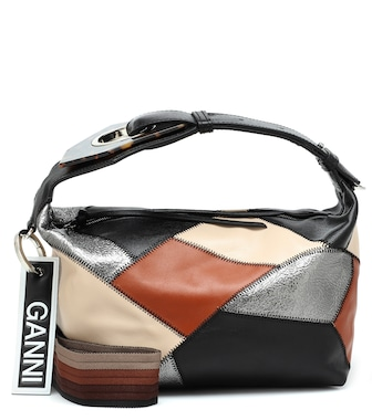 Ganni - Leather shoulder bag - mytheresa.com