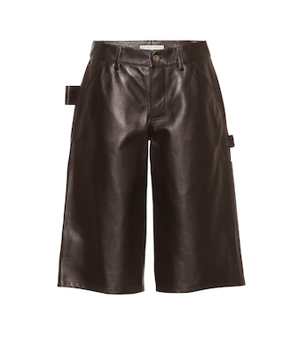 Bottega Veneta - Leather shorts - mytheresa.com
