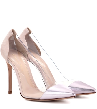 Gianvito Rossi - Exclusive to mytheresa.com – Plexi metallic leather pumps - mytheresa.com
