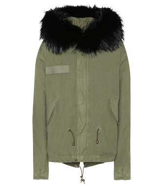Mr & Mrs Italy - Cotton parka with fur finish - mytheresa.com
