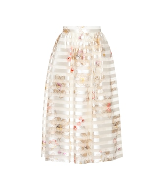 Fendi - Printed silk skirt - mytheresa.com