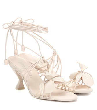 Zimmermann - Orchid leather sandals - mytheresa.com