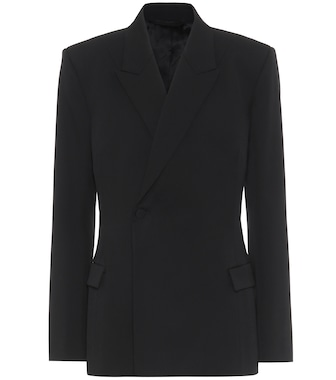 Balenciaga - Waisted stretch-wool blazer - mytheresa.com