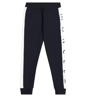 Moncler Enfant - Logo cotton trackpants - mytheresa.com