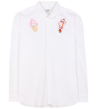 Kenzo - Embroidered cotton shirt - mytheresa.com