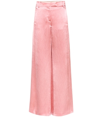 Valentino - Silk-blend trousers - mytheresa.com