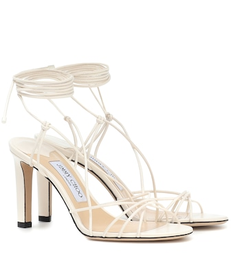 Jimmy Choo - Tao 85 leather sandals - mytheresa.com