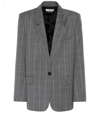 Isabel Marant, Étoile - Verix checked wool blazer - mytheresa.com