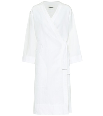 Jil Sander - Exclusive to Mytheresa – Cotton and linen wrap dress - mytheresa.com
