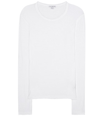 James Perse - Long-sleeved cotton top - mytheresa.com
